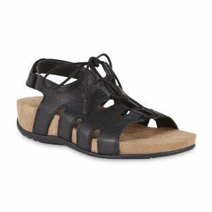 Cobbie Cuddlers Mazie Black Lace-Up Sandals 8.5